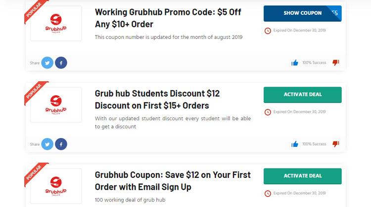 find grubhub promo code