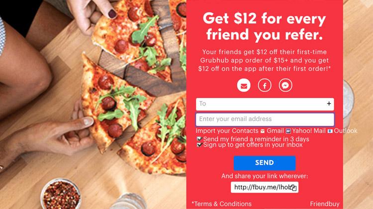grubhub refer a friend promo code