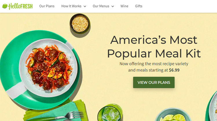 hellofresh meal kits delivery services