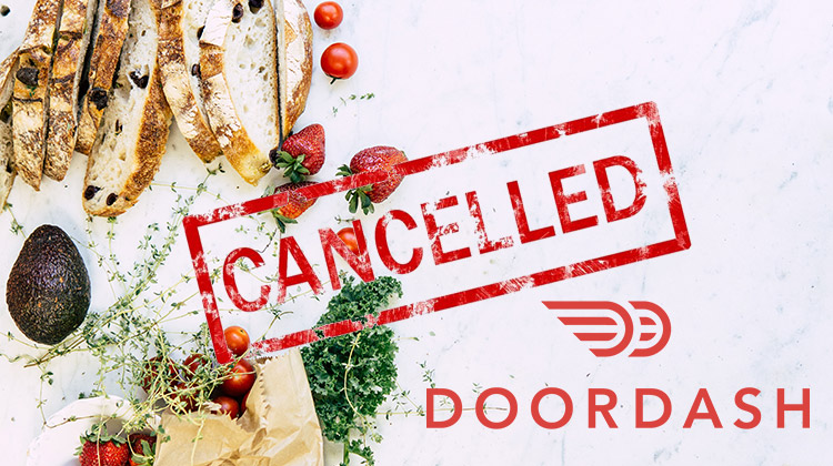 how to cancel doordash order