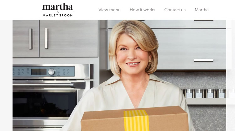 marley spoon Martha Stewart's meal delivery service