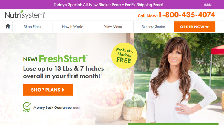 nutrisystem meal delivery weight loss plans