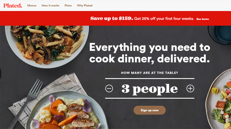 plates fresh meal kit delivery