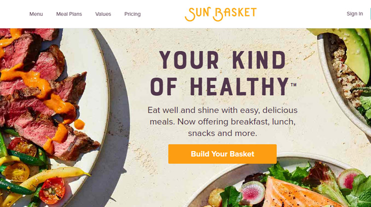 sun basket meal kit delivery service