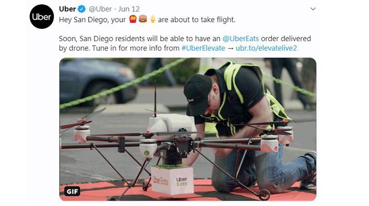 ubereats drone